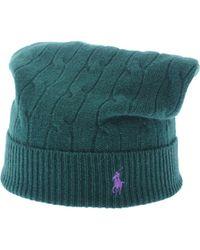 Ralph Lauren Green Hat - Lyst