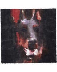 Givenchy Doberman Print Wool Scarf - Lyst