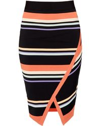 Ted Baker | Xammie Stripe Wrap Midi Skirt | Lyst