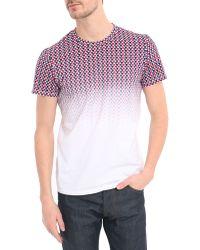 Ben Sherman White Pattern Shades T-Shirt - Lyst