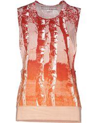Balenciaga Red Top - Lyst