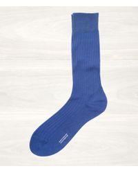 Pantherella Blue Ribbed Socks - Lyst