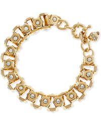 Lee Angel - Howlite And Brass Box-Station Bracelet - Lyst