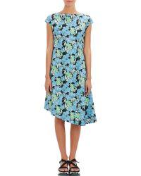 Marni Floral Poplin Asymmetric Dress - Lyst