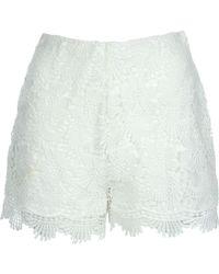 Jane Norman - Crochet Shorts - Lyst