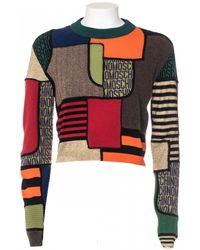 Moschino Virgin Wool Print Multicolor Patchwork Short Shirt multicolor - Lyst