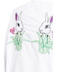 Helen Lee - Rabbit Embroidery Back Cotton Poplin Shirt - Lyst