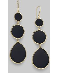 Ippolita Polished Rock Candy Black Onyx & 18K Yellow Gold Crazy 8S Drop Earrings gold - Lyst