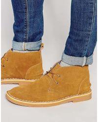 Bellfield - Chukka Boots In Suede - Lyst