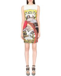 Mary Katrantzou Abstract-Print Silk And Cotton-Blend Dress - For Women - Lyst