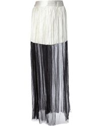 Haider Ackermann Monochrome Pleated Skirt - Lyst