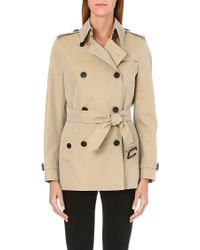 Burberry Barons Court Short Trench Coat Honey - Lyst