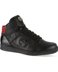 Gucci Rebound Leather Hi Top Trainers - For Men - Lyst