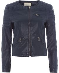 Linea Weekend Collarless Biker Jacket - Lyst