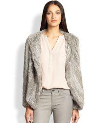 Joie Aviana Rabbit Fur Coat - Lyst