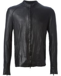 Salvatore Santoro Distressed Leather Jacket - Lyst
