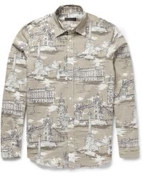 Burberry Prorsum Printed Cotton and Silkblend Shirt - Lyst