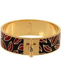 Diane von Furstenberg - Bi-colour Lips Bracelet - Lyst