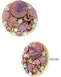 Betsey Johnson Rhinestone Cluster Disc Earrings - Lyst