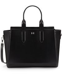 Halston Heritage Convertible Leather Tote - Lyst