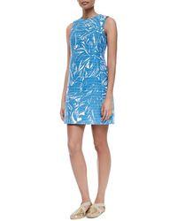 Tory Burch Corded Palm-Print Dress - Lyst
