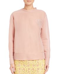 Emilio Pucci | Tulle Sweatshirt Top | Lyst