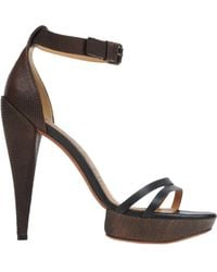 Lanvin Black Sandals - Lyst