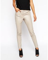 Asos Skinny Leather Trousers - Lyst