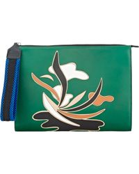 Marni Abstract-Pattern Clutch - Lyst
