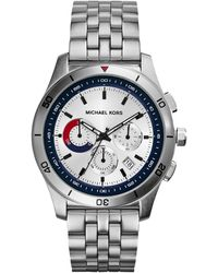 Michael Kors Mens Chronograph Outrigger Stainless Steel Bracelet Watch 43mm - Lyst