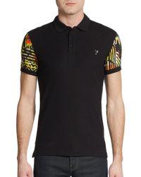 Versace Jeans Print Sleeve Polo Shirt - Lyst