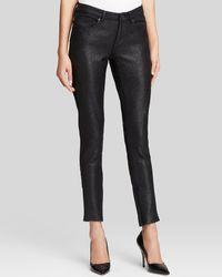 Elie Tahari Azella Jeans in Black Coated Tweed - Lyst