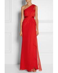 Notte By Marchesa Oneshoulder Silkgeorgette Gown - Lyst