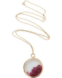 Aurelie Bidermann | Large Ruby Chivor Medallion Necklace | Lyst