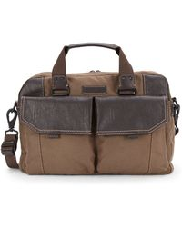 Marc New York - Linburgh Canvas & Faux Leather Briefcase - Lyst