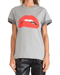 RED Valentino Printed Lips Tee - Lyst