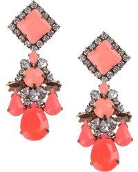 Shourouk Earrings pink - Lyst