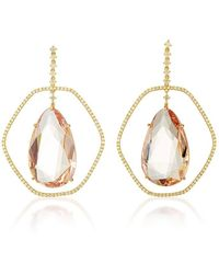 "Shawn Ames - One-Of-A-Kind ""Antonia Oblong"" Morganite And Diamonds Earrings - Lyst"