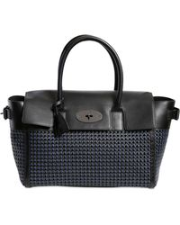 Mulberry Bayswater Buckled Woven Leather Bag - Lyst