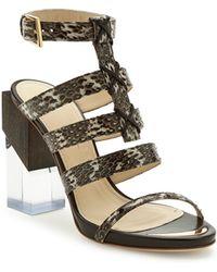 Maiyet Multi Strap Block High Heel Sandal - Lyst