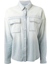 Koral Faded Striped Denim Shirt - Lyst