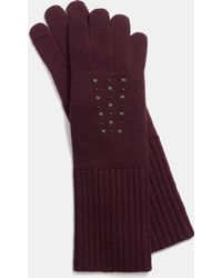 COACH - Star Studded Knit Gloves - Lyst