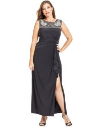Patra Plus Size Embellished Ruffle Gown - Lyst