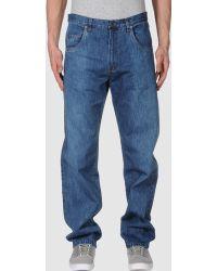 Adam Kimmel Denim Pants blue - Lyst