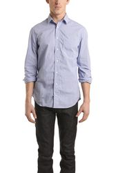 Blue&Cream Blue Micro Check Gingham Buttondown Shirt blue - Lyst