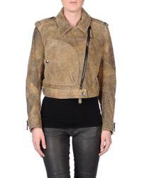 Burberry Prorsum Khaki Jacket - Lyst