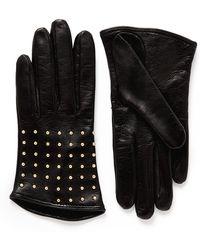 Alexander McQueen - Stud Leather Gloves - Lyst