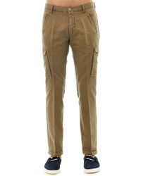 Gant Rugger - Linen and Cottonblend Cargo Trousers - Lyst