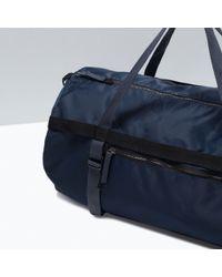 Zara Technical Fabric Bowling Bag - Lyst