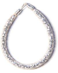 Peppercotton - Silver Swarovski Crystal Bracelet - Lyst